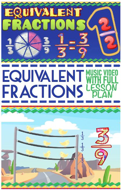 FREE Equivalent Fractions Song & Math Center Activity For Kids ★ 3rd Grade - 5th Grade ★