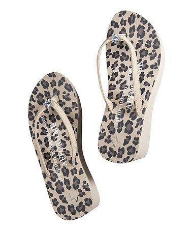 Love this Leopard Teardrop Diamond Ring Platform Flip-Flop on #zulily! #zulilyfinds