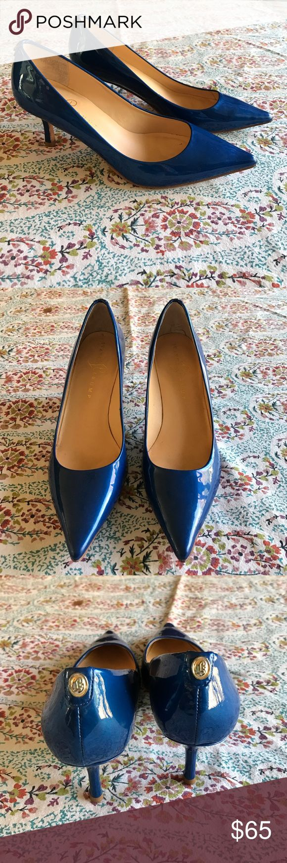 Stunning Ivanka Trump heels Pure class and sass! These patent leather Ivanka Trump heels are show stoppers! Gorgeous electric blue with gold emblem on top of back heel. Leather soles. Perfect heel height of 2 3/4. These are sure to get some attention! ❤️ Ivanka Trump Shoes Heels
