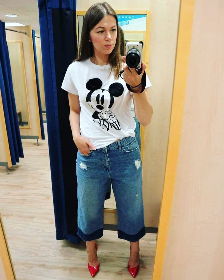 "MICKEY MOUSE  PRIMARK, OUTFIT IDEAS New Me Myself & I (@newmemyselfandi) on Instagram: ""Love this Mickey look  #Fashion #styleblogger #style #stylist #penneys #culotte #outfitoftheday…"""