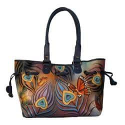 Women's ANNA by Anuschka Draw-String Tote 8050 Flying Peacock