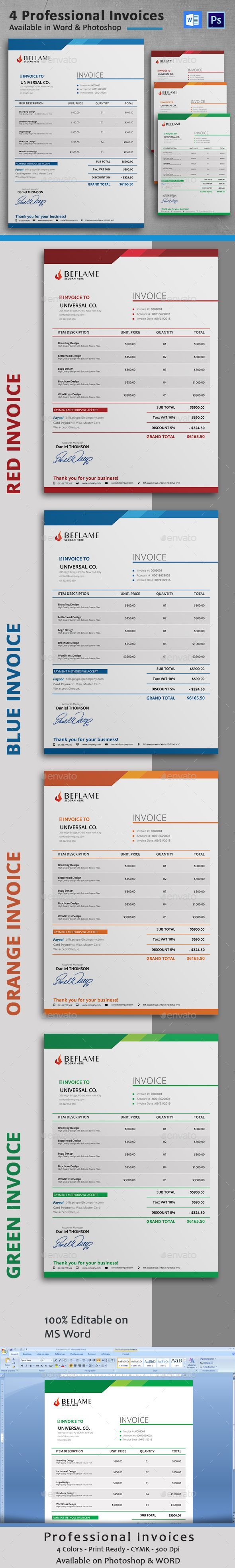 #Invoice - Proposals & Invoices Stationery Download here: https://graphicriver.net/item/invoice/16606288?ref=classicdesignp #restaurantdesign