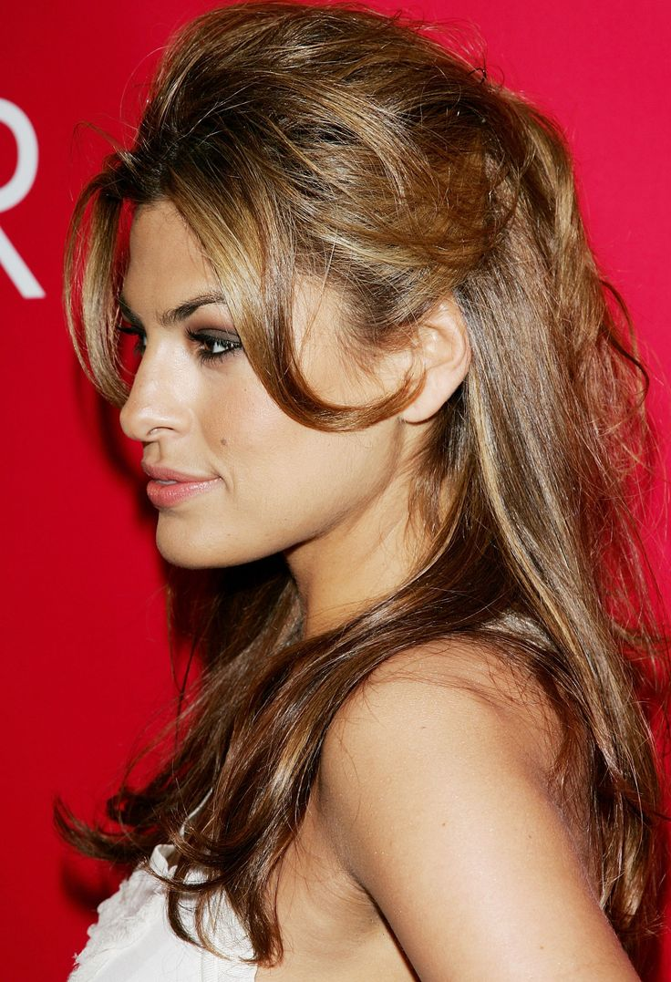 Eva Mendes I LOVE her hair! Shes amazing all round really. Shes purdy