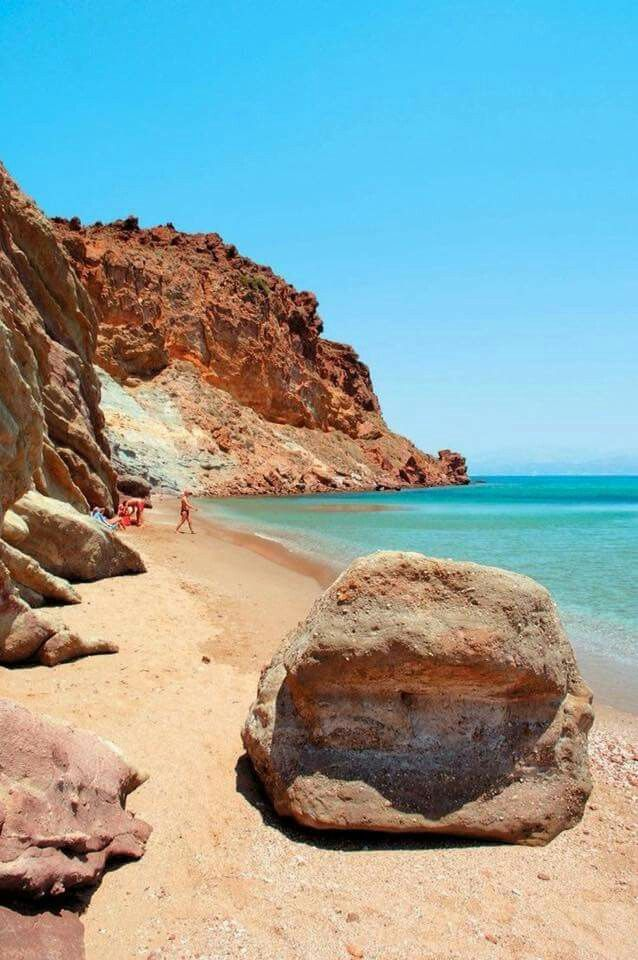 Kalogeros beach, Paros island, Cyclades, Greece
