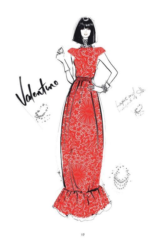 """The Dress"" – 100 najpiękniejszych sukienek na ilustracjach Megan Hess, fot. ri… – drawings: illustration, paintings, sketching, prints"
