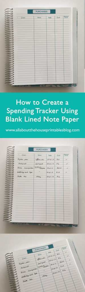 how to budget using an erin condren planner plum paper how to use blank notebooks what to do with empty planner tutorial diy planner hack http://www.allaboutthehouseprintablesblog.com/how-to-keep-track-of-spending-using-stickers-and-blank-notes-pages-of-your-planner/