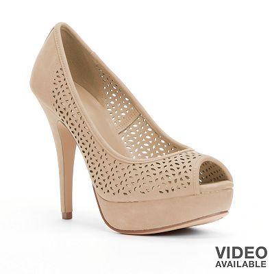 Apt. 9 Peep-Toe Platform High Heels - Women - 28 Best Bridesmaid Shoes Images On Pinterest