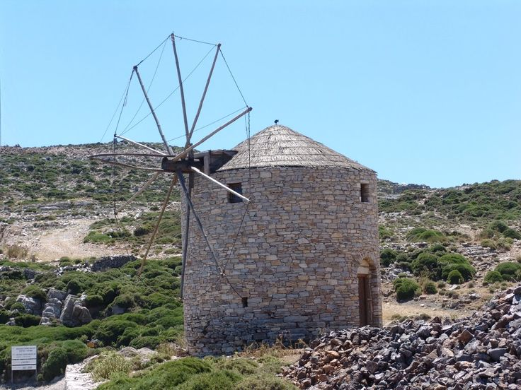 We ♥ Greece | Windmill at #Naxos island #Greece #travel #explore #destination