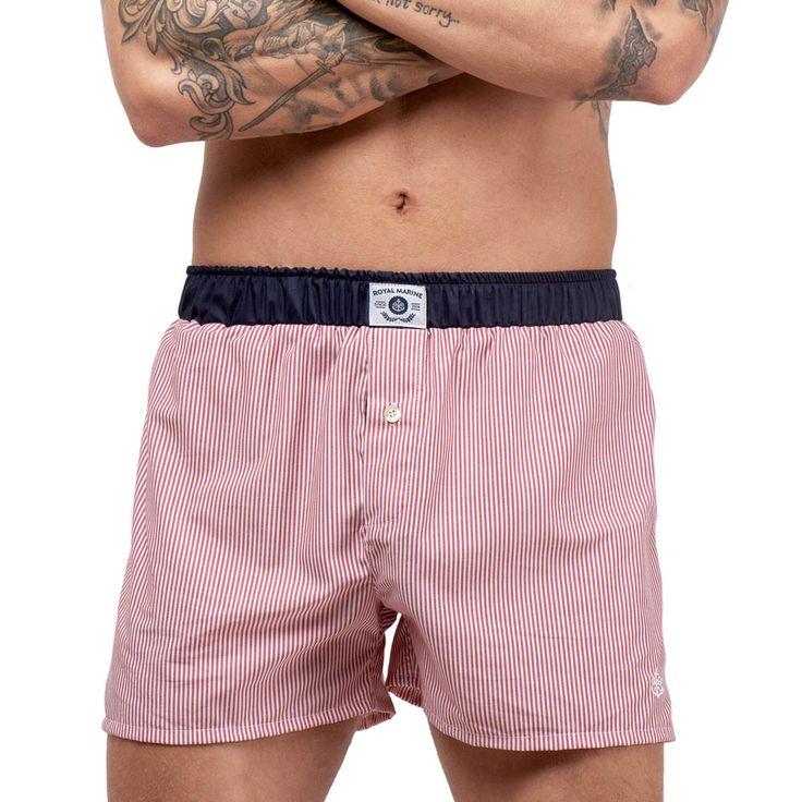 Wall Street Red - Boxer Shorts - Royal Marine #underwearmen #madeformen #men  #