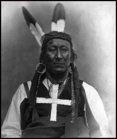 "Oglala Sioux, Young Man Afraid of His Horses: His name means   ""They fear his horse"" or ""His horse is feared"" meaning that the bearer of the name was so feared in battle that even the sight of his horse would inspire fear. He was a lieutenant under Red Cloud and resisted the building of the Montana trail through the Sioux hunting grounds of Powder River. Born 1836 and died in 1900 at the Pine Ridge Reservation."