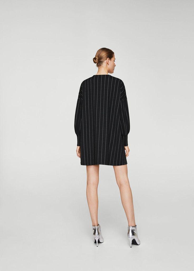 Stripe textured dress | MANGO