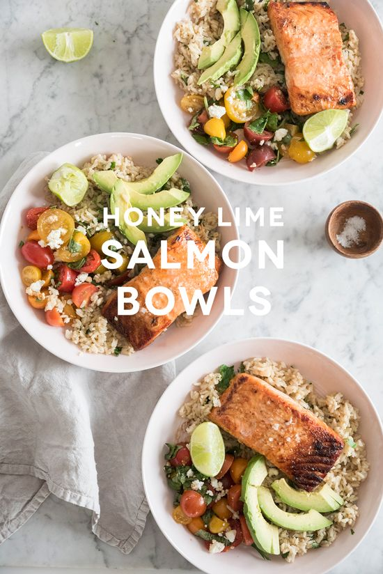 Honey Lime Salmon Bowls