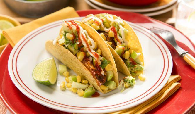 Tacos de poisson grillé et salsa de maïs - Qu'est-ce qu'on mange pour souper