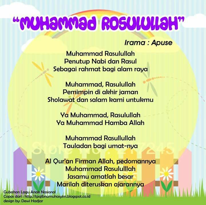 Muhammad Rasulullah (original song Apuse - Papua national theme song)