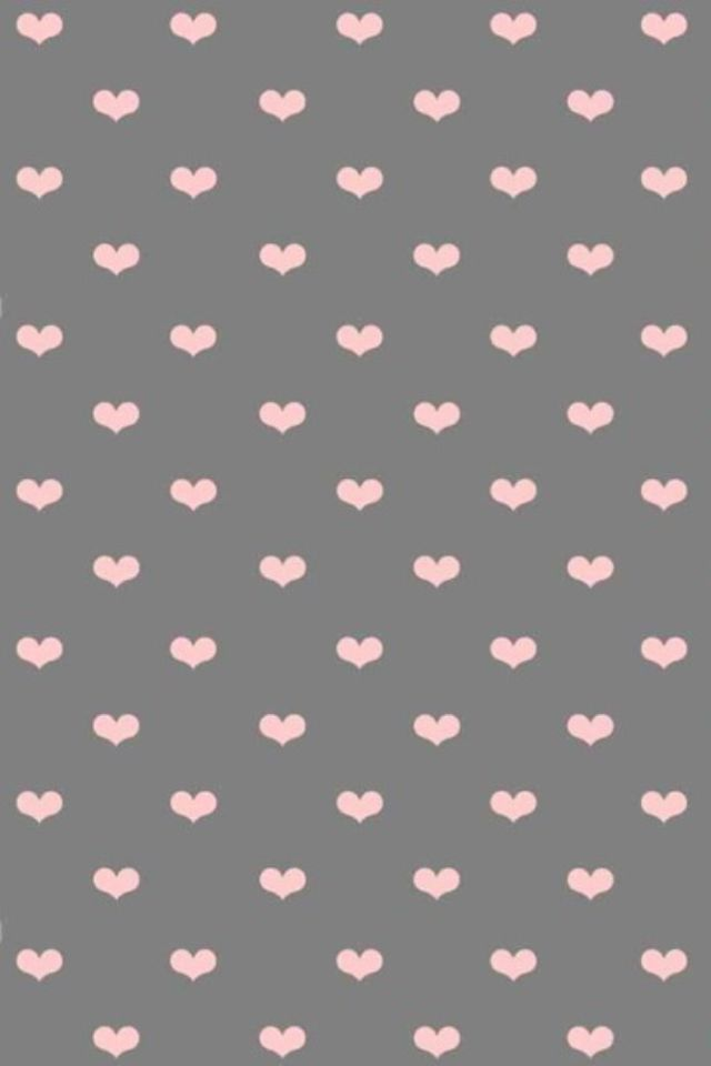 ✎pink hearts on grey paper