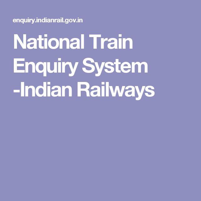 National Train Enquiry System -Indian Railways