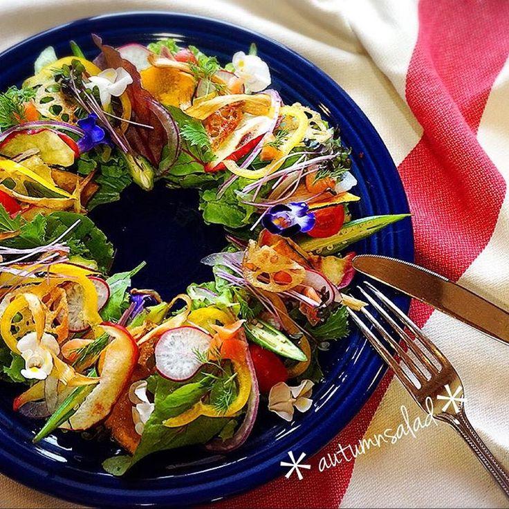 クリスマスにぴったり♩「リースサラダ」が簡単なのに主役級の華やかさ! - macaroni