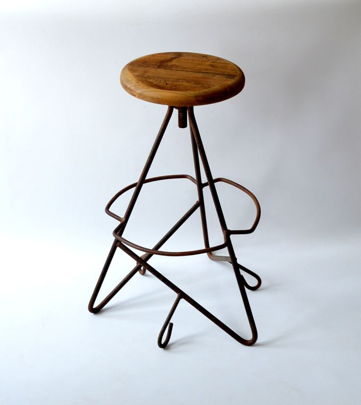 Stołek warsztatowy – hoker, lata 50.