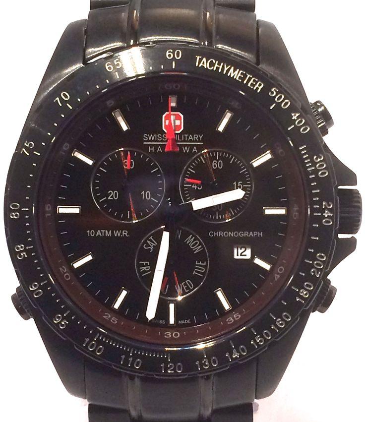 Swiss Military Hanowa Pro Alarm Chronograph Watch.