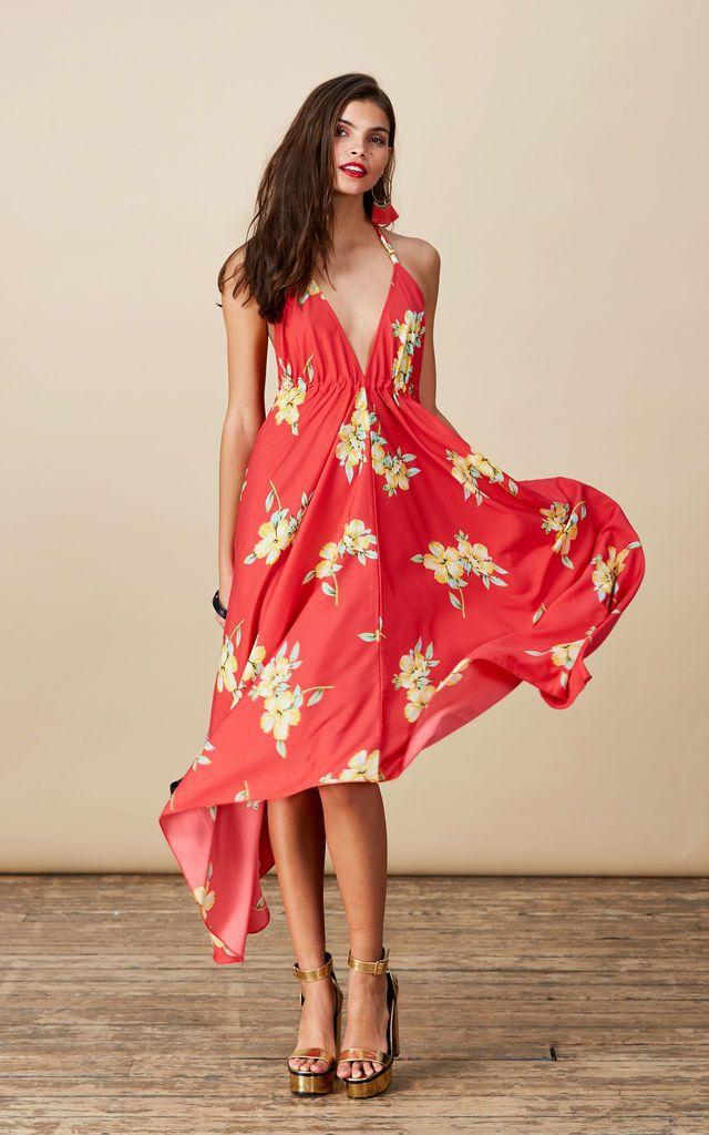 Click to view Boho Maxi in Hibiscus