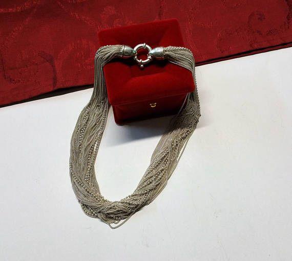 Silberkette Collier Silber 925 Unikat edel Einzelstück