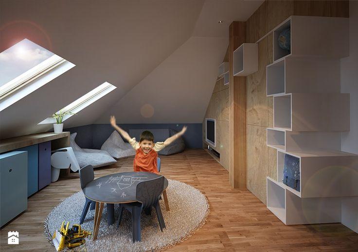 Pokój dla przedszkolaka - Średni pokój dziecka dla chłopca dla malucha, styl nowoczesny - zdjęcie od COI Pracownia Architektury Wnętrz