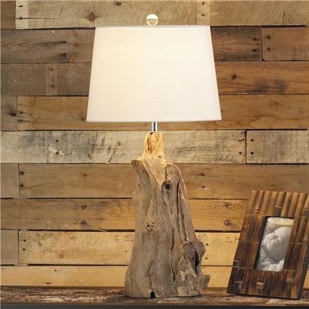 rustic wood lamp #lighting