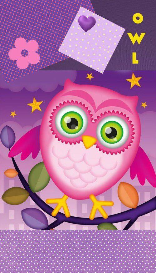 Cute Owl Iphone Wallpaper Image Via We Heart It Cute Owl Wallpaper Buho Fondo