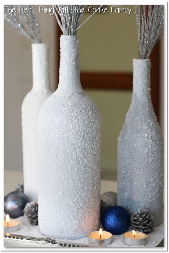 Sie warf ihre alten Weinflaschen nicht in den Glasabfall, sondern machte die Etiketten ab. Das Ergebnis ist FANTASTISCH für Weihnachten! - Seite 15 von 15 - DIY Bastelideen