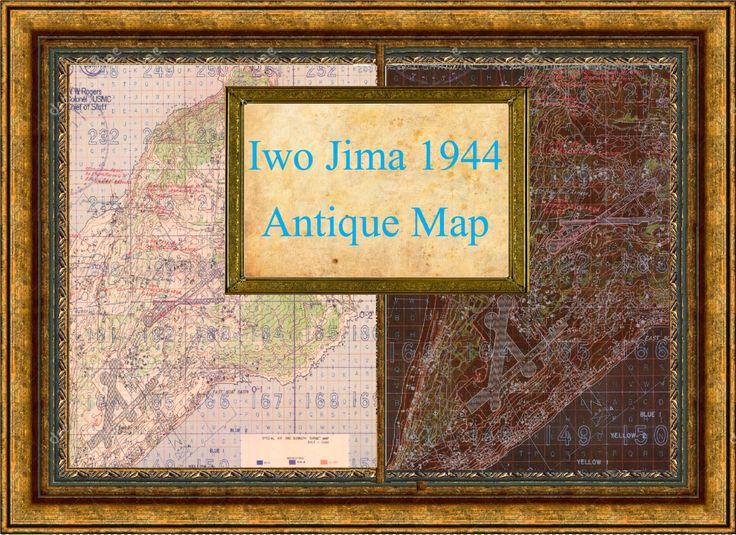 Iwo jima map on Pinterest | Iwo jima, Iwo jima battle and ...