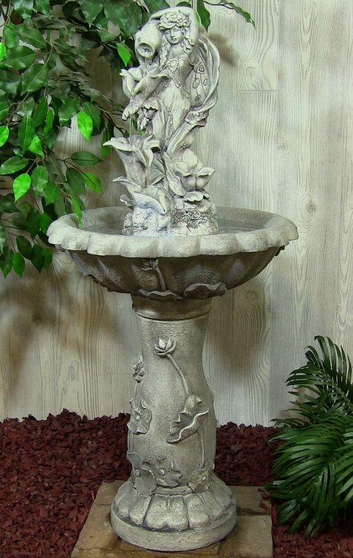 What To Consider When Choosing A Bird Bath? Backyard Water FountainsFountain  ...