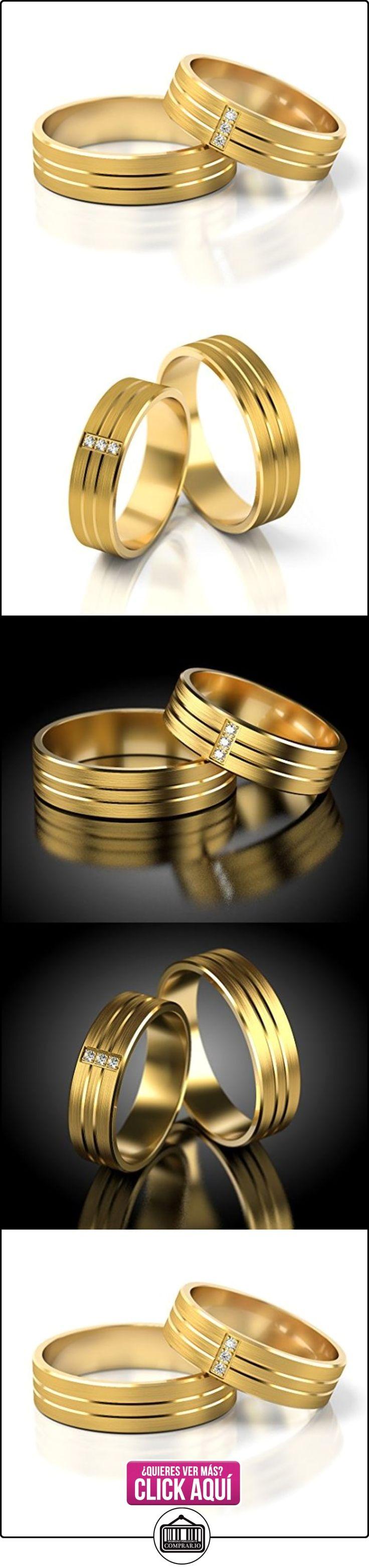 Anillos De Boda Oro amarillo 750_S-794_D  ✿ Joyas para hombres especiales - lujo ✿ ▬► Ver oferta: http://comprar.io/goto/B01DRC06MY