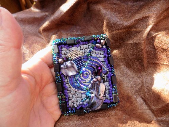 Beaded and Embroidered Brooch