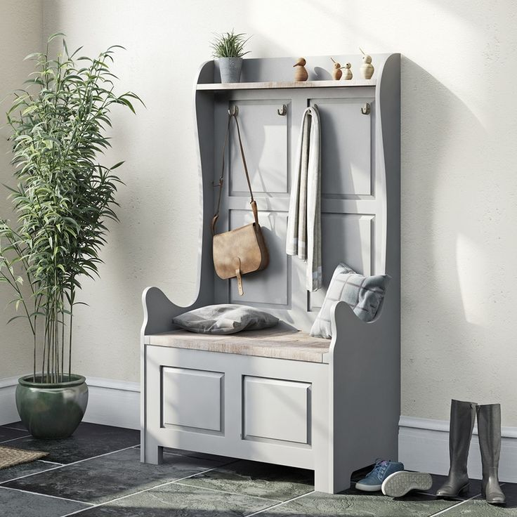 Austin french grey 2 storage storage bench