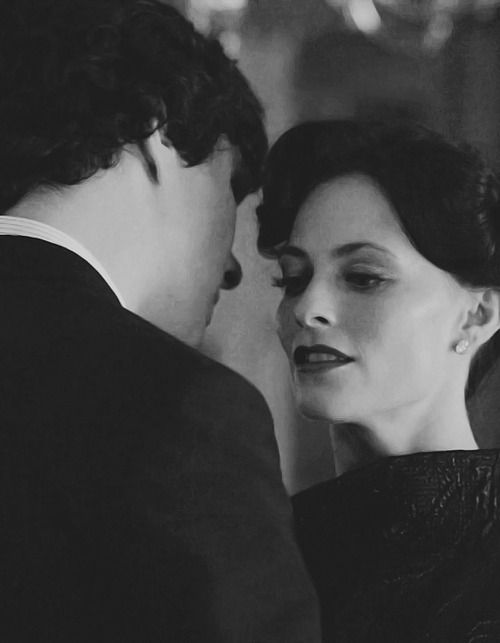 Sherlock and Irene Adler. I can't decide who I like better for him, Molly or Irene. I think I like them each together for different reasons. I really like Irene because shes extremely intelligent, outgoing and bold. In a lot of ways shes the opposite of Sherlock and I think that's good for him. Molly is a quiet loyal sort which is similar to Sherlock.