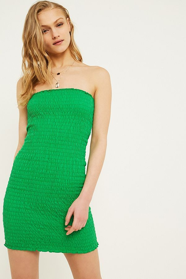 700bad2fc36 Urban Outfitters - Green Tube top dress - £29