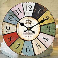 Traditional+Country+Retro+Floral/Botanicals+Characters+Music+Wall+ClockRound+30*30+Indoor/Outdoor+Clock+–+USD+$+48.56