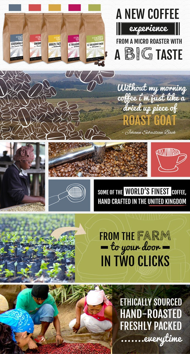 Banners and asset ideas for micro roaster #eCommerce website