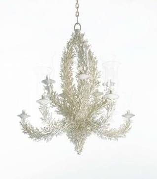 Faux Coral Aged Metal Chandelier - Mecox Gardens
