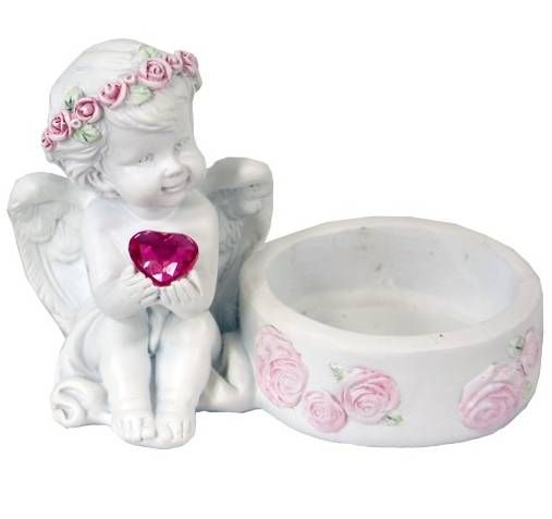 Svícen na čajovou svíčku s andílkem