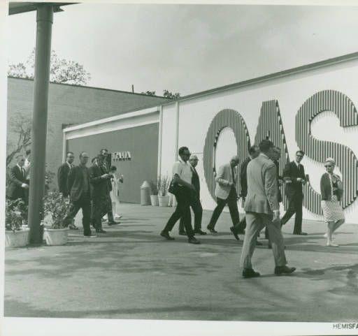 Exterior of the Organization of American States (OAS) Pavilion - HemisFair '68 San Antonio, Texas World's Fair 1968 #WorldsFair #Expo2015 #Milan