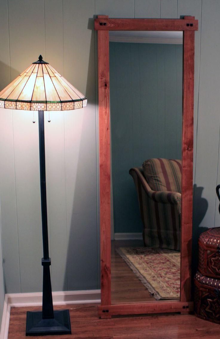 Rustic Cherry Full Length or Floor Mirror, Gloss Clear Coat Finish, 24 x 72 - Handmade. $575.00, via Etsy.