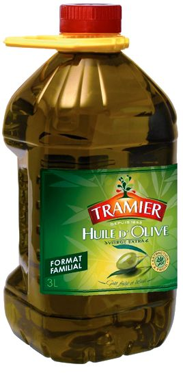 Huile d'olive Vierge Extra en bouteille de 3L - Tramier