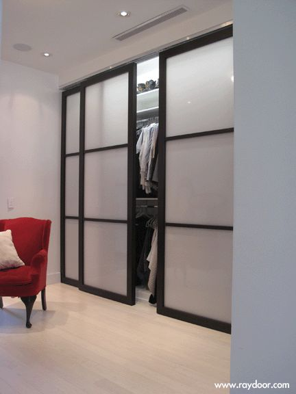 sliding doors for a closet this would look awesome with lights inside the closet - Curtains For Sliding Doors