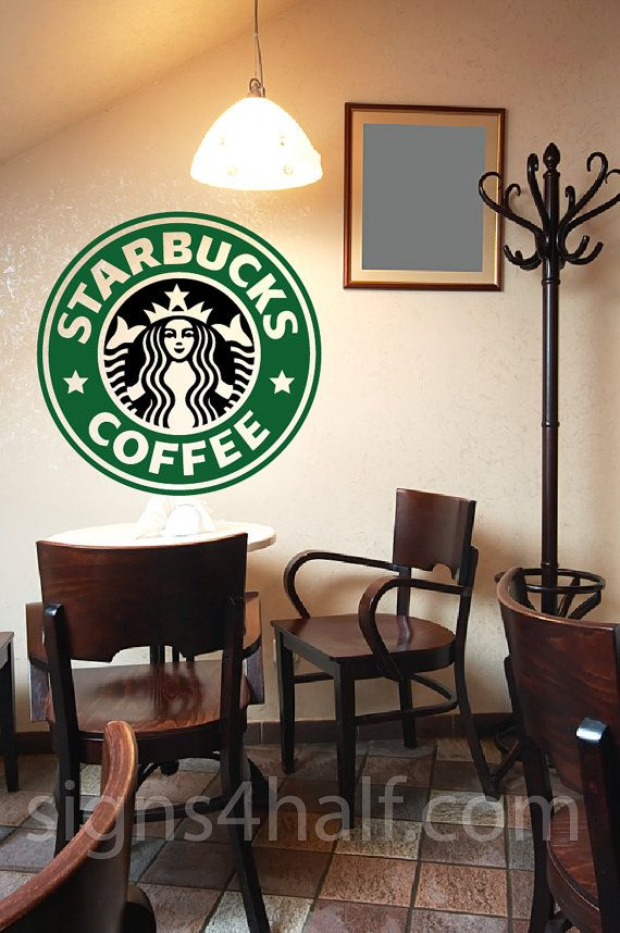 starbucks logo removable wall art decor decal sticker on wall logo decal id=50586