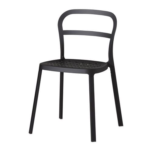 REIDAR Chair, black $89 The price reflects selected options Article Number :501.775.10 Chair made entirely of aluminium, which can be outdoors all year round.