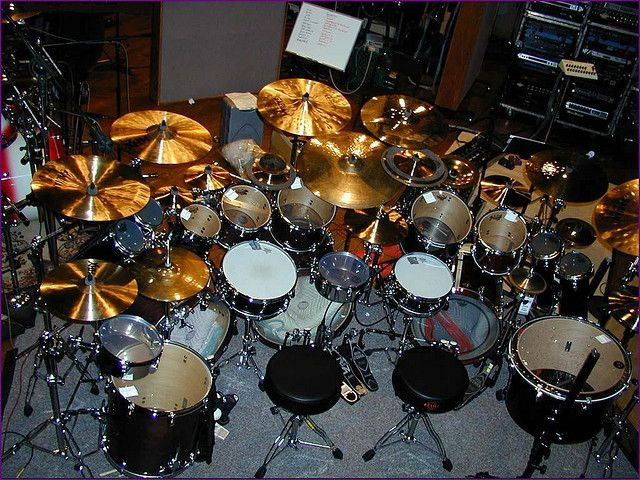 Danny Carey's (Tool) drum set. At one of the concerts I went to they actually had build the kit around Danny. I love watching that man play the drums!