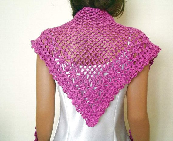 Crochet lilac neck shawl, scarf, weft, crochet collar,gift for her, mothers day gift, spring fashion, womens clothing