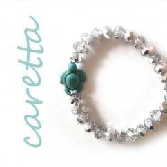 Caretta Beyaz Mavi Bilezik - #tasarim #tarz #gumus #rengi #moda #hediye #ozel #nishmoda #silver #colored #design #designer #fashion #trend #gift
