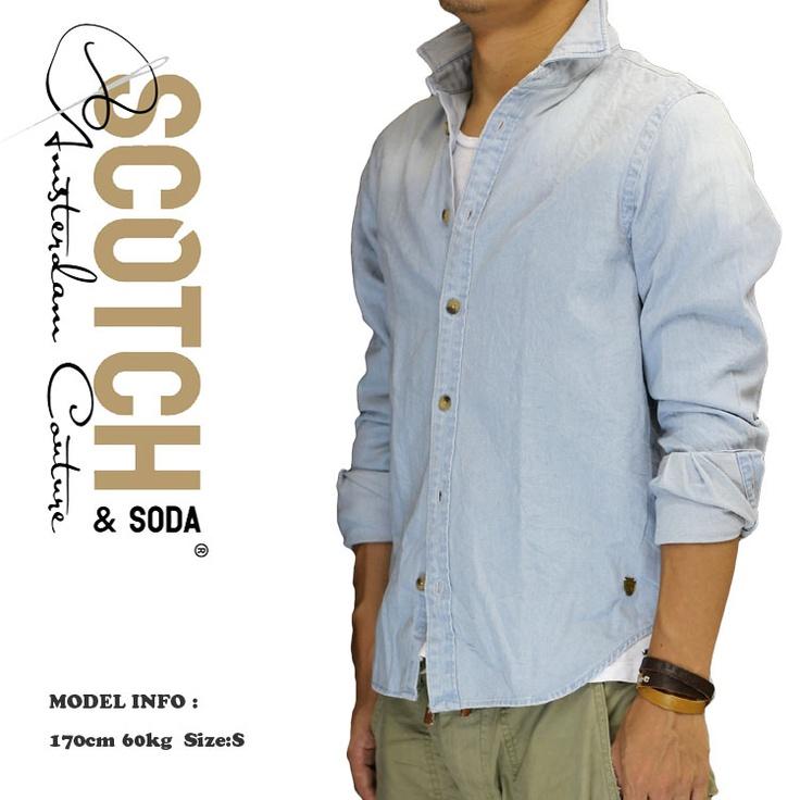Scotch (スコッチ&ソーダ) / メンズ シャツ / 長袖シャツ / デニムシャツ / シャンブレーシャツ ボウタイ付き